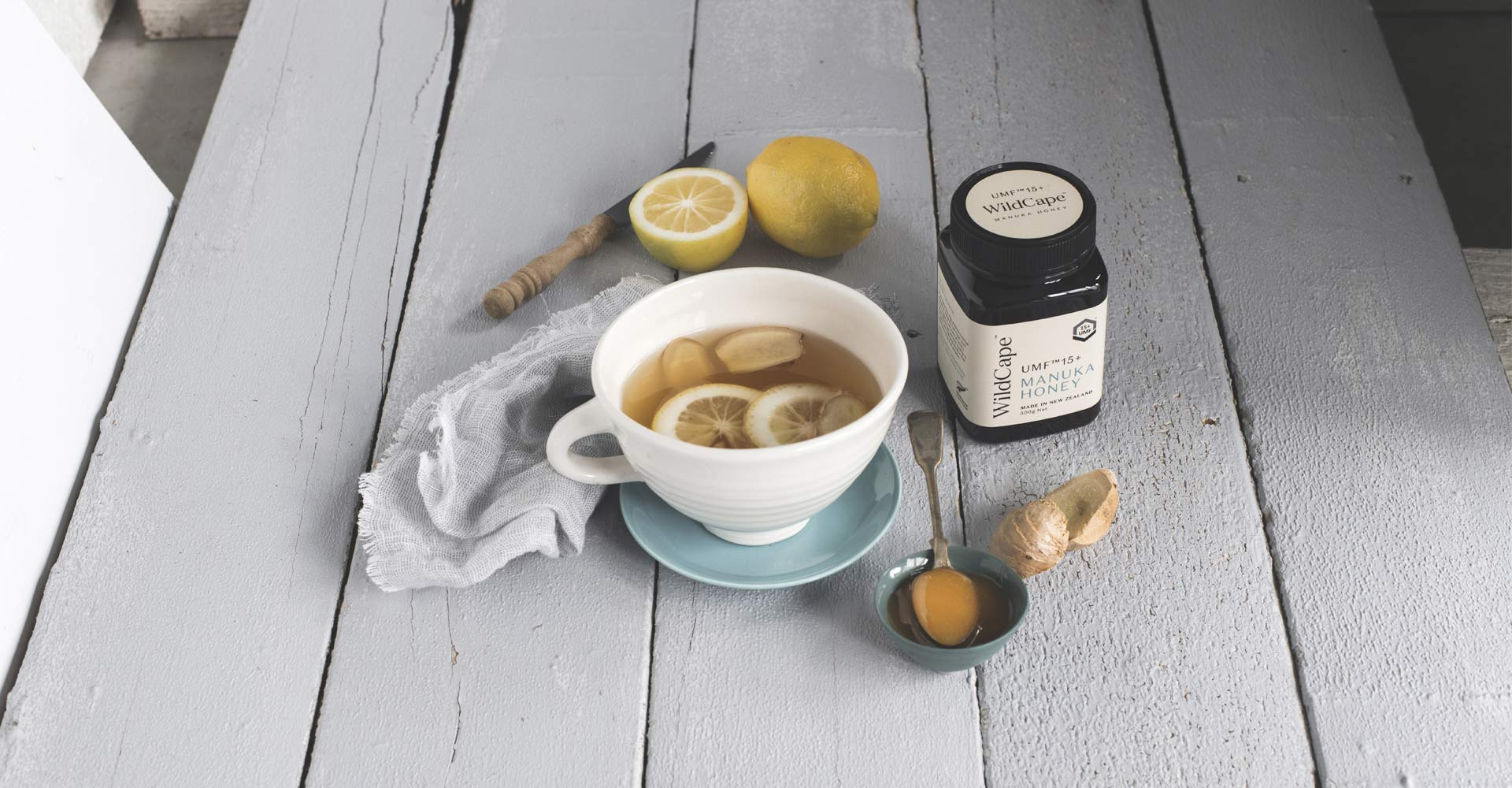 MANUKA HONEY, LEMON & GINGER DRINK